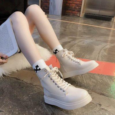 韓國休閒鞋 平底鞋拉鏈網紅ins系帶馬丁靴女秋冬新款英倫短筒皮靴加絨平底短靴ぐ帆布鞋豆豆鞋娃娃鞋牛津鞋樂福鞋紳士鞋