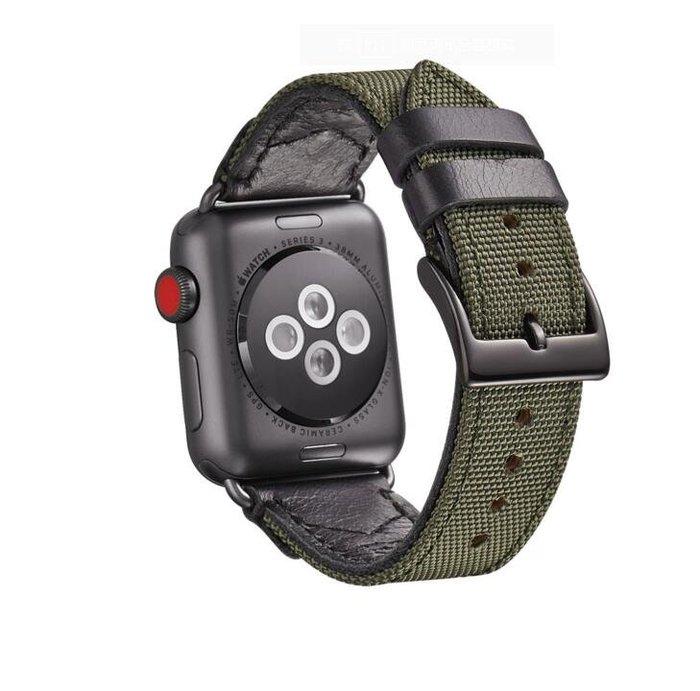 適用於蘋果表皮錶帶 38mm 42mm真皮尼龍錶帶 適用apple watch尼龍錶帶10055