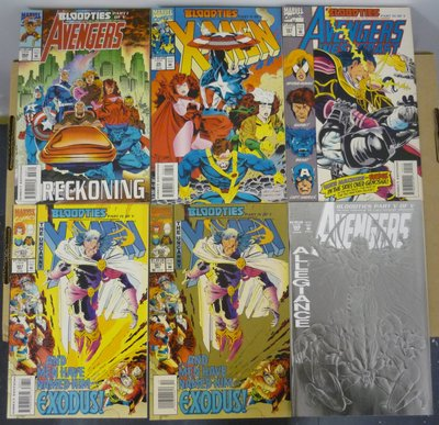 """美漫 Avengers X-Men """"Bloodties"""" Mini-Series 5+1books 1993 Marvel  復仇者 美國隊長"""
