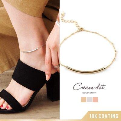 預購 日本 18K鍍金 雙材質 細緻 腳鍊 一共有三個顏色可以選擇