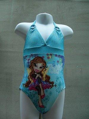 //彩虹屋//大眼娃繽紛花園女童連身泳裝~美國品牌BRATS台灣製造外銷美國萊卡材質