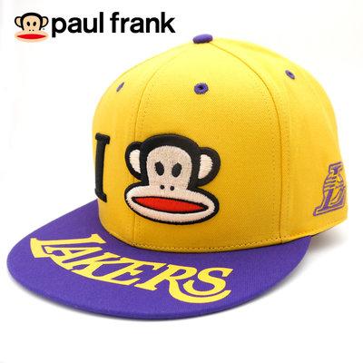 paul frank - NBA聯名猴嘻哈帽(湖人隊)-900含郵下標就賣