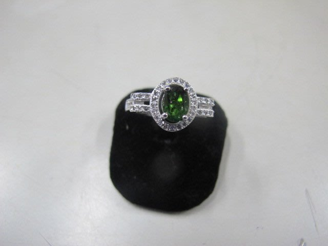二手舖 NO.3667 純銀925 藍寶石戒指 鑲水鑽 首飾飾品