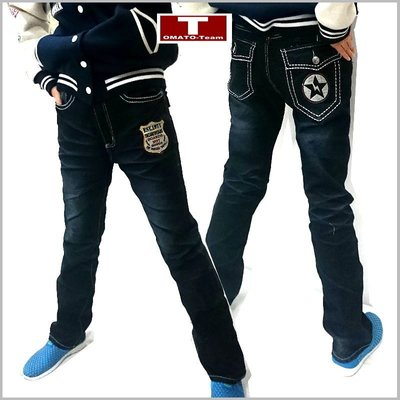 《蕃茄丁》130~165m/中大童‧【6PC5561】ESE 1971閃電星‧經典窄管牛仔褲‧厚款‧腰可調