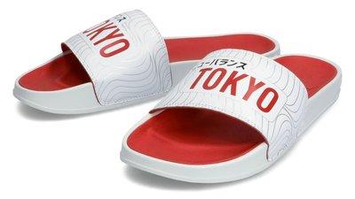 南◇2021 7月NEW BALANCE 日本 東京限定 奧運 台日友好  運動拖鞋 白紅色 SMF200TK
