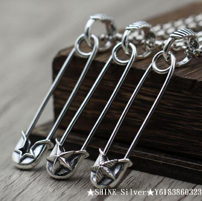 [ SHINE-Silver ]  泰國進口!925純銀 cody sanderson  龐克五角星胸針 別針 吊墜
