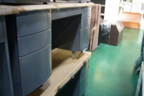 宏品二手家具館 庫存銀藍色7抽屜辦公桌 電腦桌 書桌 主管桌 中古辦公傢俱拍賣電腦OA椅199