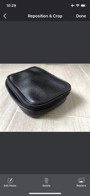 95%新 電子器材 皮套 皮袋 electronic equipment leather carrying bag pouch case  保護