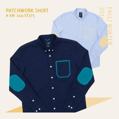【YOYOGI PLUS】ADLIB - 口袋絨布襯衫 (淺藍)