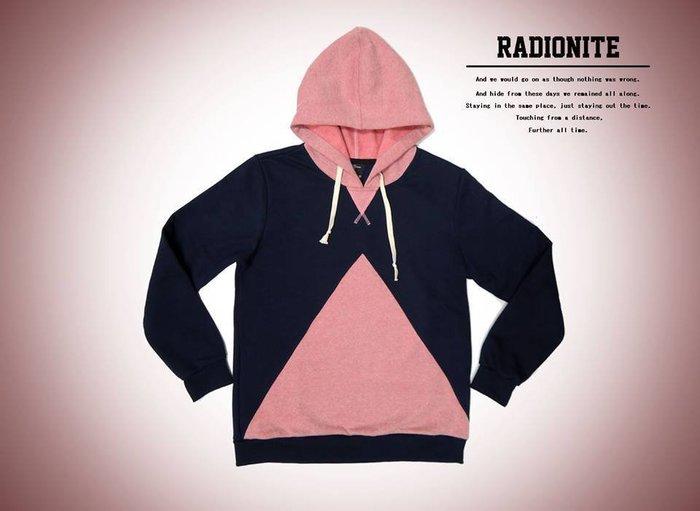 美國東村【RADIONITE】Vandal Hoodie 幾何圖形 撞色帽T 粉紅色 買一送一