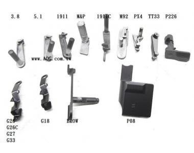 【翔準軍品AOG】【 手槍卡榫 後定紐 】 3.8 5.1 1911 M&P M92 PX4 TT33 P226 XDM