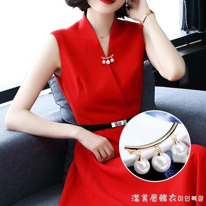 別針固定衣服韓國簡約珍珠胸針胸花女配飾防走光扣針百搭絲巾扣