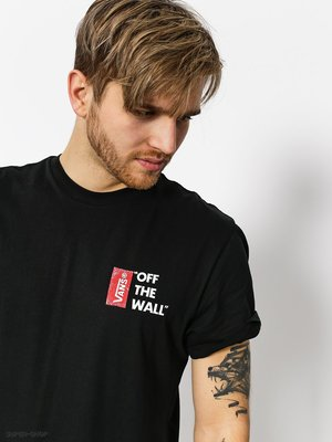 【 K.F.M 】VANS Off The Wall III T-Shirt 經典紅標Logo 短Tee 黑色