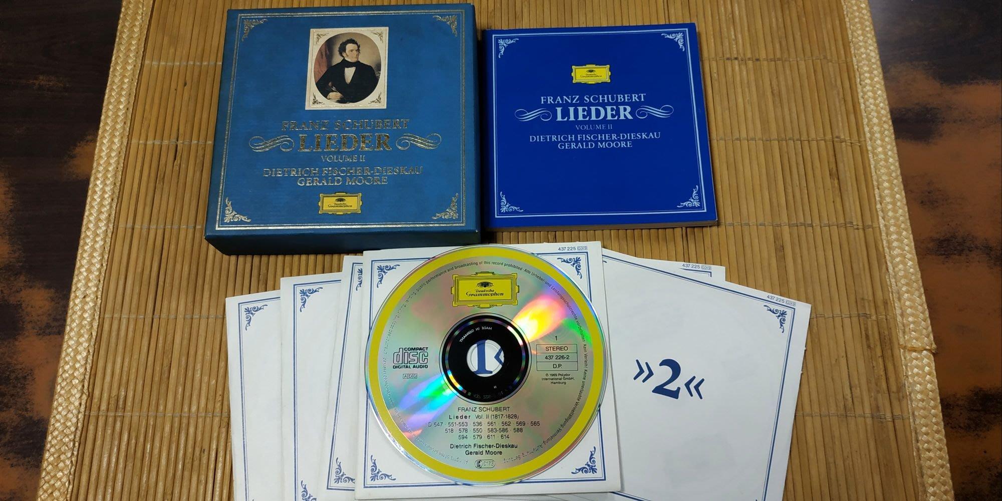 好音悅 半銀圈 費雪狄斯考 摩爾 舒伯特 藝術歌曲集 VOL.2 Schubert Lieder DG 德版 無IFPI