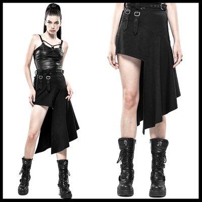 *MINI PUNK LOLO*黑暗龐克視覺-暗黑戰域.危機特警小隊斜邊不規則龐克裙(棉質.WQ-442)PUNK