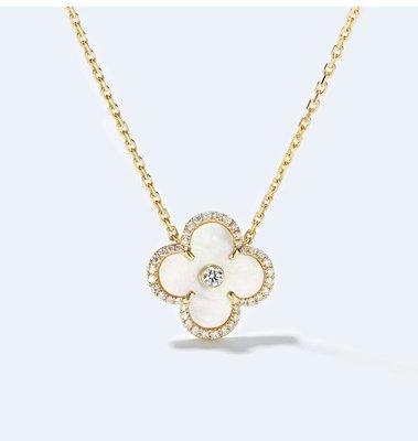 伊莎貝拉輕珠寶系列-18K金四葉草鑽石項鏈