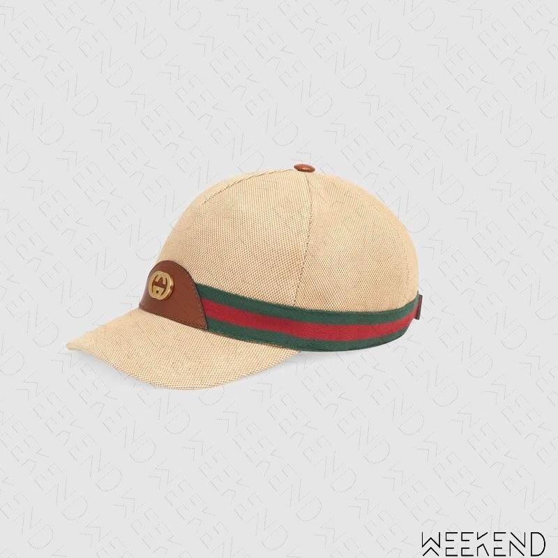 【WEEKEND】 GUCCI Web 織帶 鴨舌帽 棒球帽 帽子 576442
