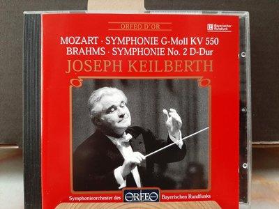 Keilberth,Mozart/Brahms-Sym No.40/2,凱貝斯指揮巴伐利亞廣播交響,演繹莫扎特/布拉姆斯-第40/2號交響曲