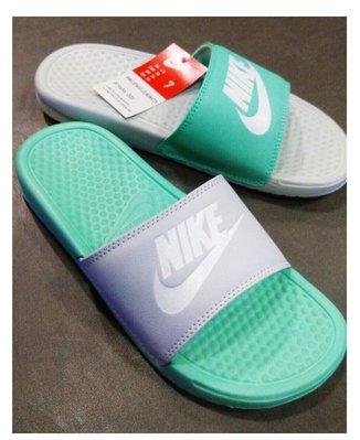 全新正品 品 Nike Wmns Benassi Jdi Mismatch 蒂芬妮綠 灰 女 拖鞋 819696-003