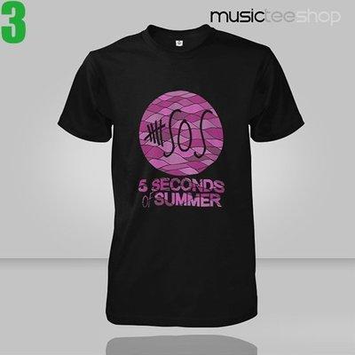 【流行搖滾系列】5 Seconds Of Summer【到暑五秒】短袖T恤(共4種款式可選 男生版.女生版皆有)專單進貨