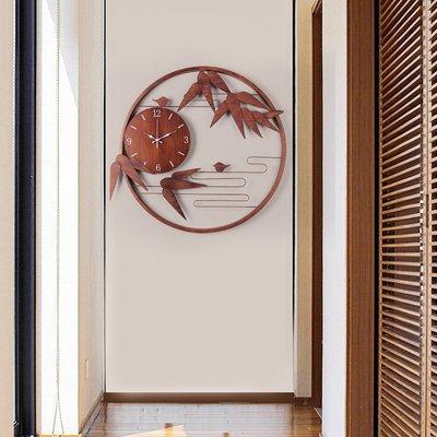 掛鐘 鬧鐘 墻壁鐘 裝飾鐘錶新中式掛鐘客廳家用個性時尚中國風掛表網紅藝術裝飾創意掛墻鐘表