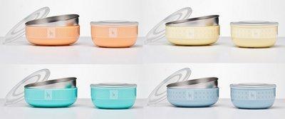 【魔法世界】美國 Kangovou 小袋鼠不鏽鋼安全 點心碗+小粥碗 組合