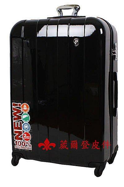 《葳爾登》Daycrown提可樂20吋硬殼大容量旅行箱360度行李箱鏡面加大輪登機箱20吋325黑色