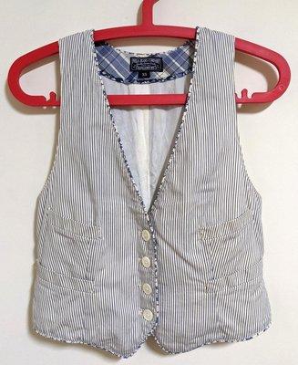 Polo Jeans Company 小背心 V領背心 排釦 條紋 拼接 花朵 學院風 背心小外套