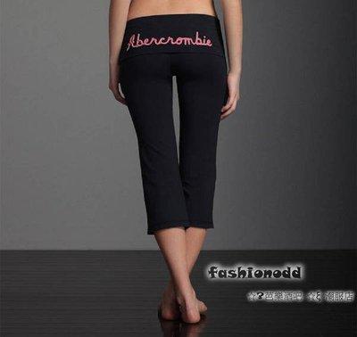 ☆✿fashionodd ☆ξ【abercrombie & Fitch】Perfect Butt Yoga Crop 完美曲線合貼瑜加褲【現貨】Women XS