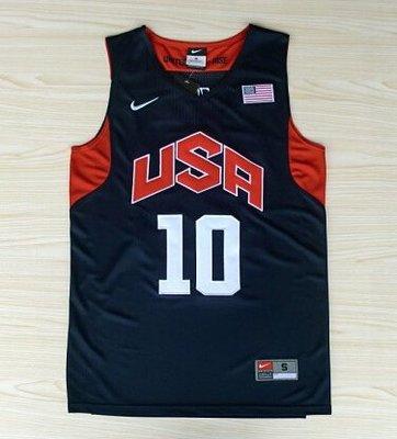 美國隊奧運會球衣 夢十#10號 10號 KOBE BRYRNT柯比 科比 刺繡 夢之隊籃球衣 深藍