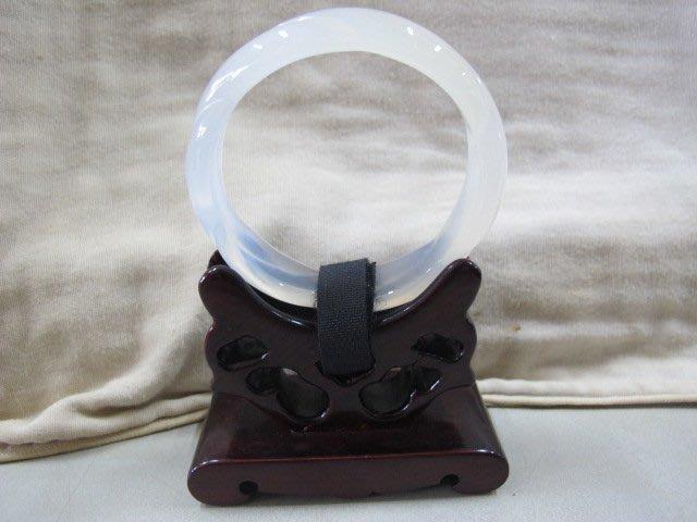 二手舖 NO.2931 天然玉石 玉髓玉鐲 冰透種 無雜質 玉環 手環