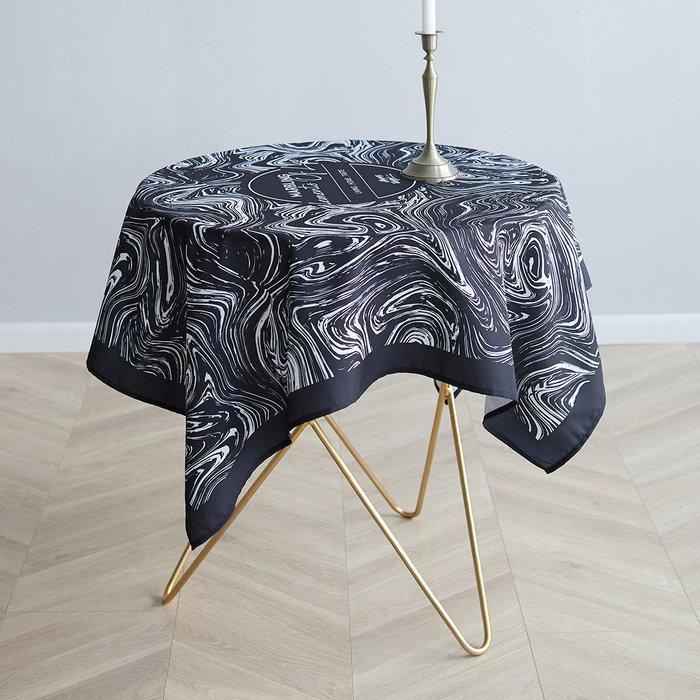 設計款 北歐創意桌布 大理石紋 防水防油 餐桌佈置 野餐墊 咖啡廳 餐廳 圓桌 方桌桌布│悠飾生活│