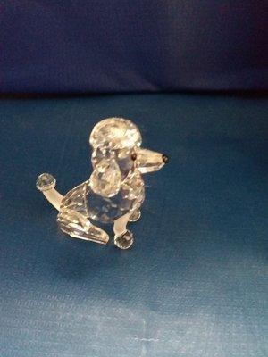 Swarovski Crystal Sitting Poodle