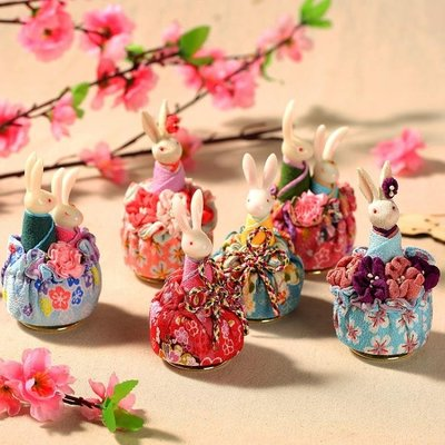 日本小樽和風兔子音樂盒八音盒送女友女生女孩生日情人節七夕禮物·全館免運3C旗艦店