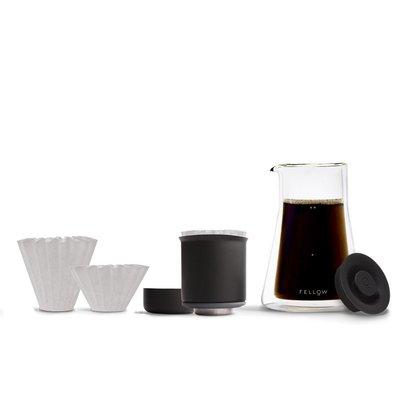 咖啡器具 美國Fellow POUR-OVER 雙層玻璃濾壺  Dripper 雙層真空濾杯 濾紙解憂大鋪子