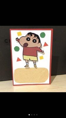 蠟筆小新卡片 贈送材料包 手作卡片 生日卡片 客製卡片 日本卡通 迪士尼
