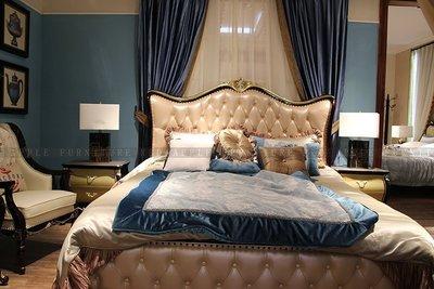 [紅蘋果傢俱] 8602 新古典輕奢系列 6尺 床台 真皮雙人床