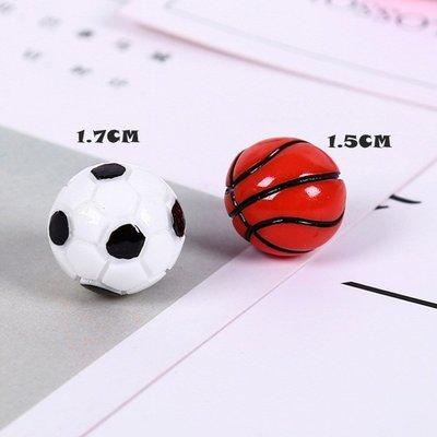 現貨 樹脂立體足球籃球配件項鍊耳環史萊姆diy飾品配件