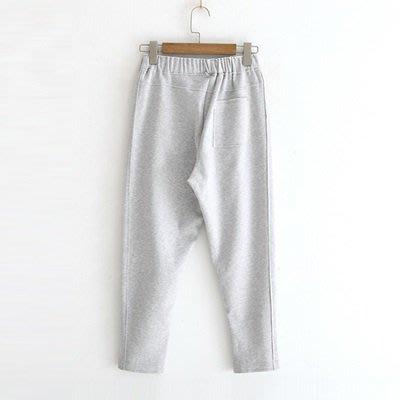 休閒 褲 純色 長褲-簡約舒適鬆緊腰流行女褲子73tq16[獨家進口][米蘭精品]