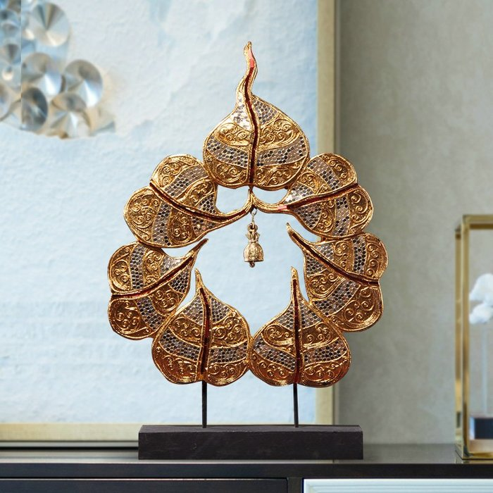 裝飾擺件 裝飾品 泰國工藝品裝飾擺件 客廳玄關新古典實木菩提風鈴桌面擺設