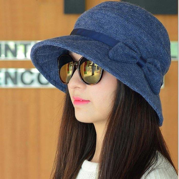 帽子女春秋韓版盆帽漁夫帽女可折疊時尚百搭貝雷帽保暖媽媽帽