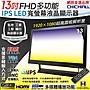 【CHICHIAU】13吋多功能IPS LED寬螢幕液晶顯...