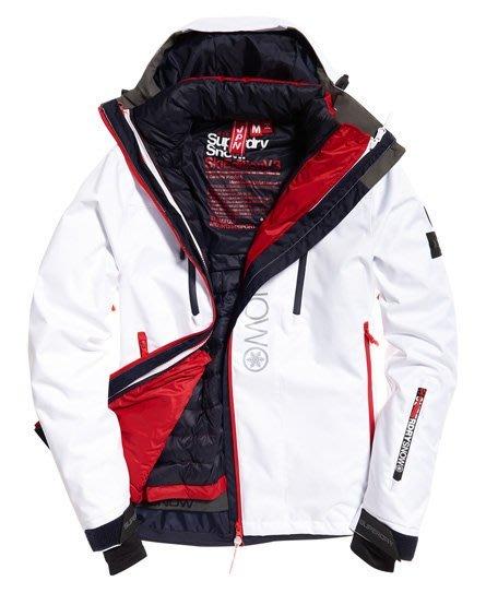 S.WET®現貨 極度乾燥 Superdry Super SD 多功能 滑雪夾克 雪衣 風衣 防風防水 兩件式 光學白