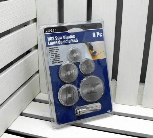 【買家購】電磨專用鋸片6件組~五片不同尺寸鋸片+桿子1支