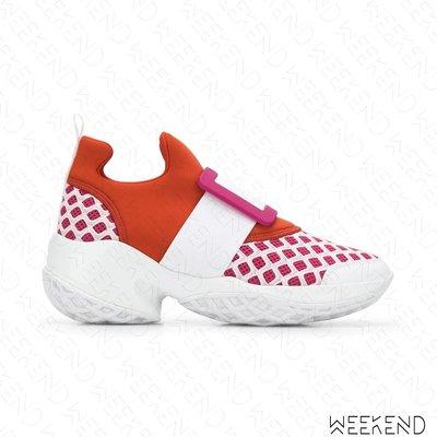 【WEEKEND】 ROGER VIVIER Viv Run 休閒鞋 運動鞋 紅+白色 19秋冬
