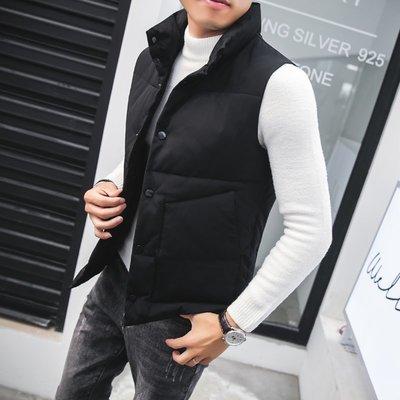 【時尚先生男裝】棉馬甲男士2019秋冬季新款韓版修身帥氣棉背心潮流立領無袖外套韓版西裝 修身西裝 整套西裝 西裝褲 西裝外套正式西裝A0037