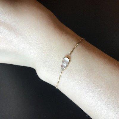 14K金鑽石台鑲天然A貨福祿緬甸翡翠 手鏈