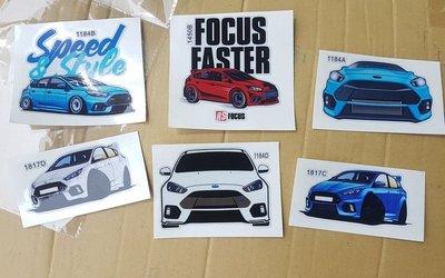 Focus MK3 MK3.5 ST RS 可愛貼紙 (現貨 10cm)