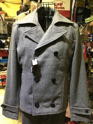 [變身館日本服飾]~Suggestion~西裝~排扣外套~毛料~海軍釦~外套~立領~日本購入~全新現品~L~灰