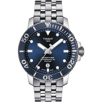 瑞士天梭表 Seastar 1000 海星300米潛水機械錶-T1204071104101